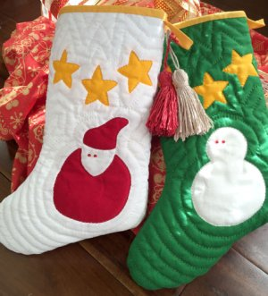 画像1: サンタ&スノーマンのクリスマス・ソックス