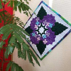 画像1: 四季のタペストリー 「梅雨」・紫陽花のタペストリー