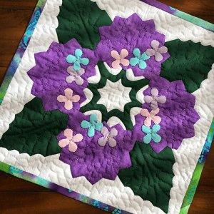画像2: 四季のタペストリー 「梅雨」・紫陽花のタペストリー
