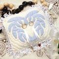 ハワイアンキルトの青いピロー*復刻版キット