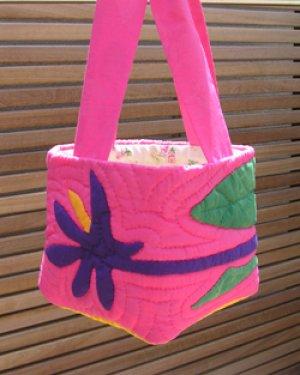 画像1: 【STAY HOME】極楽鳥花のリボン・トートバッグ